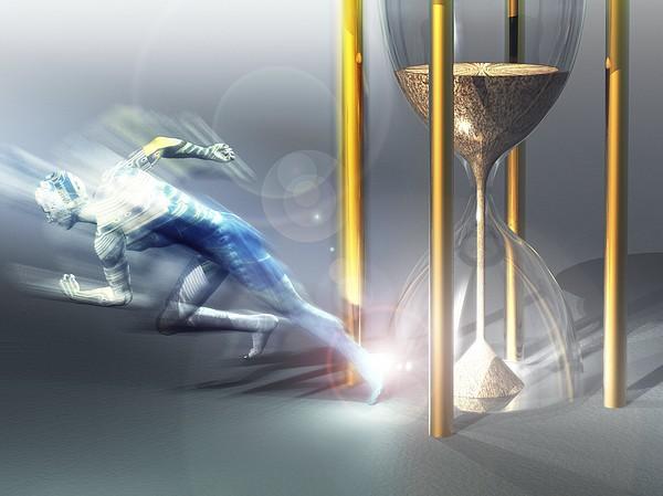 Time Travel, Conceptual Artwork Print by Laguna Design