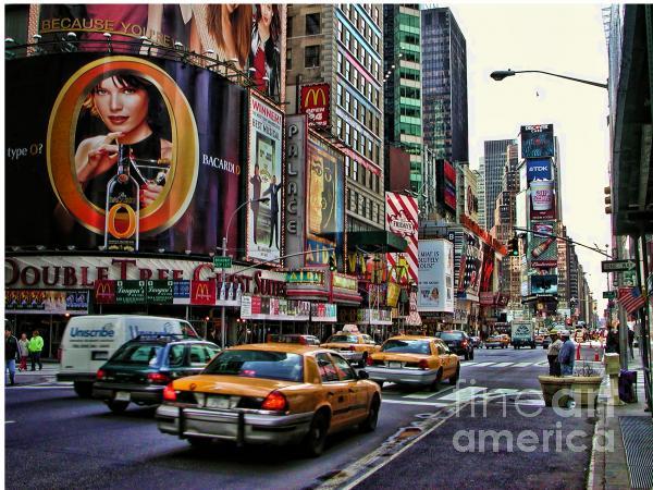Times Square 2002 Print by Edward Sobuta