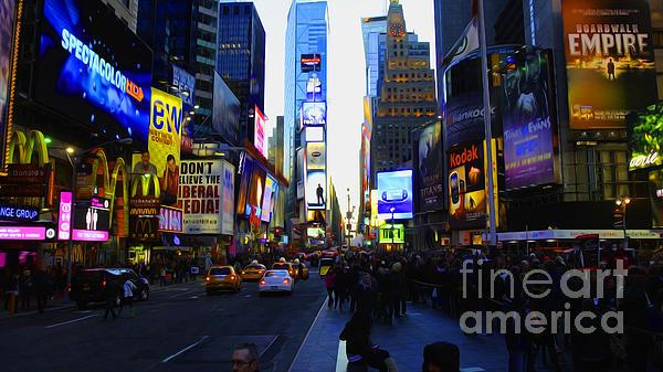 Times Square Nyc Print by Moz Art