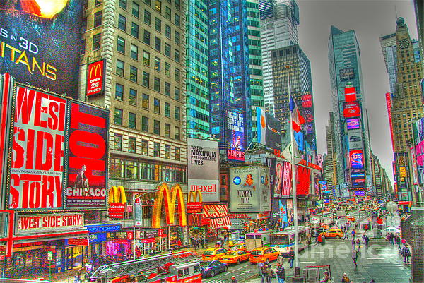Times Square One Print by Alberta Brown Buller