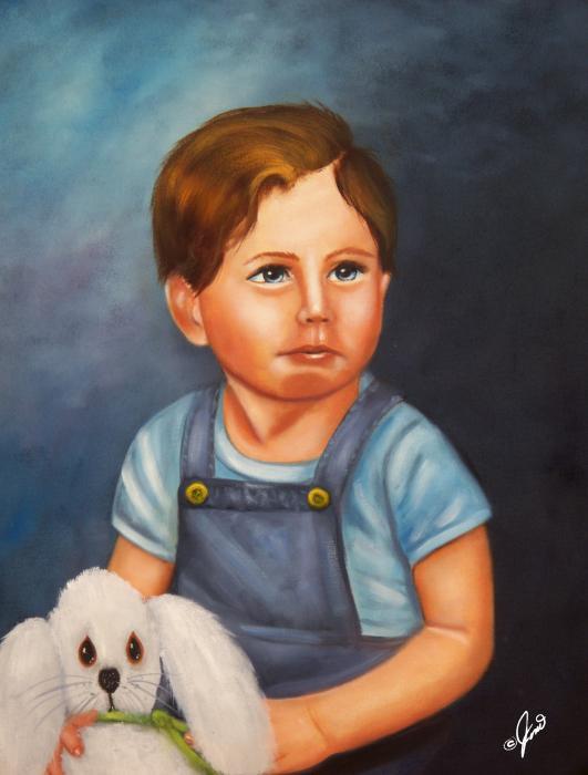 Timmy And Fluffy Print by Joni McPherson
