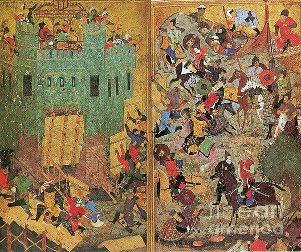 Timur And The Siege Of Smyrna 1402 Print by Photo Researchers