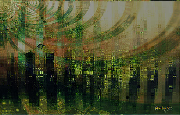 Tin City Print by Kathy Sheeran