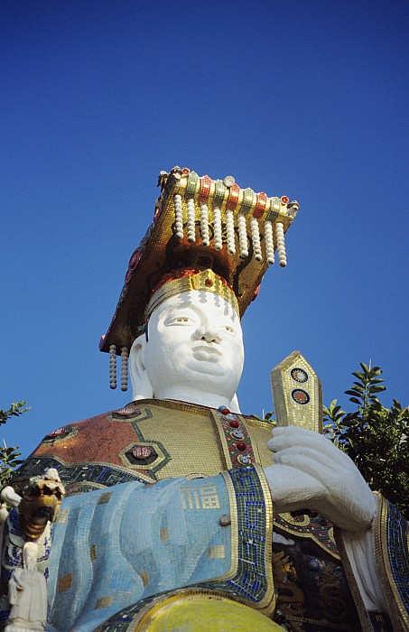 Tin Hua Temple Colorful Statue Print by Gloria and Richard Maschmeyer - Printscapes