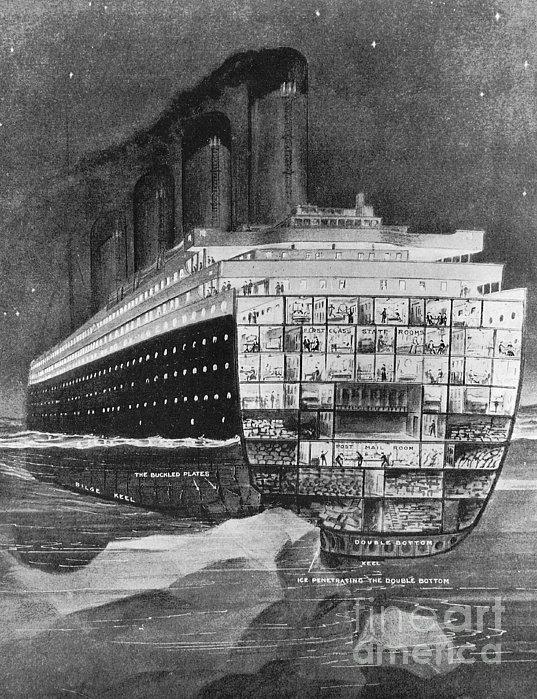 Titanic: Shipwreck, 1912 Print by Granger