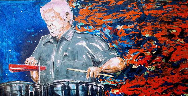 Tito Puente Print by Omar Javier Correa