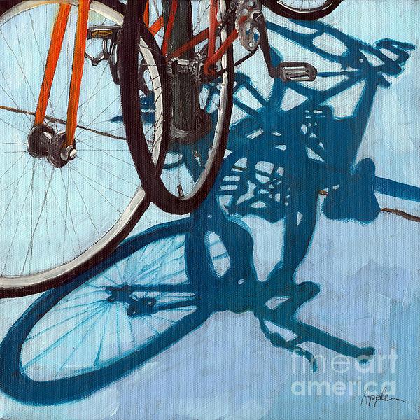 Together - City Bikes Print by Linda Apple