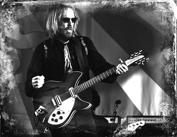 Tom Petty 2 Print by Lucrecia Cuervo