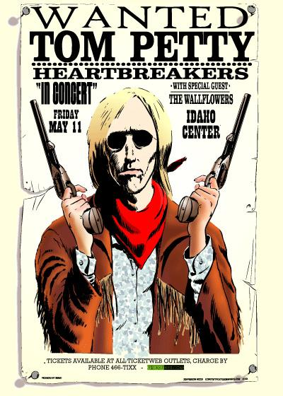tom petty tour poster by jefferson wood. Black Bedroom Furniture Sets. Home Design Ideas