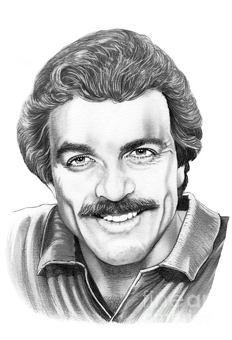 Tom Selleck Print by Murphy Elliott
