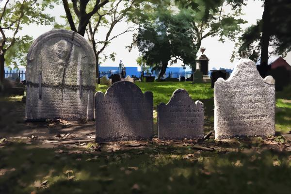 Tombstones Print by Kelley King