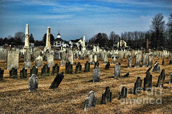 Tombstones Print by Paul Ward
