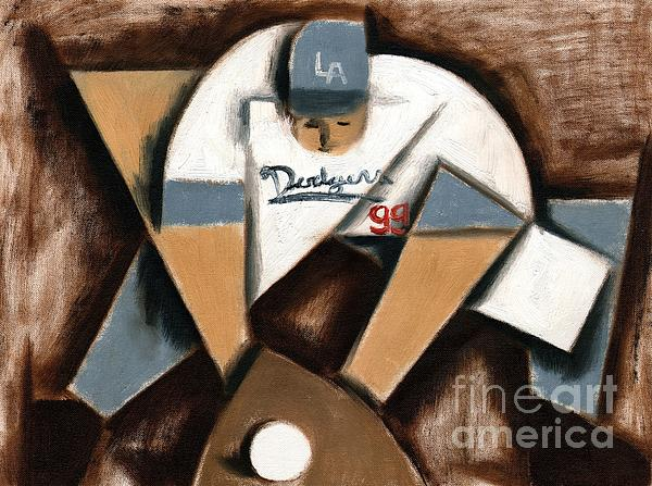 Tommervik Los Angeles Dodgers Baseball Player Painting