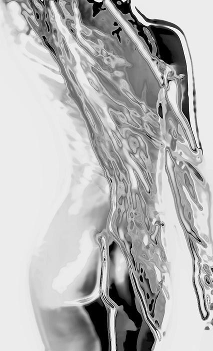 Tones Of Grey Print by Naman Imagery