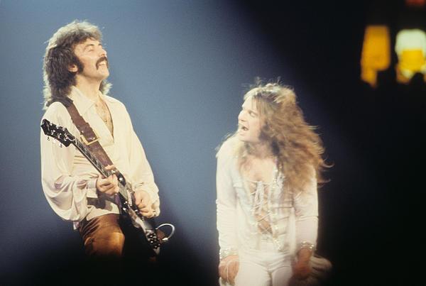 Tony Iommi And Ozzy Osbourne  Print by Rich Fuscia