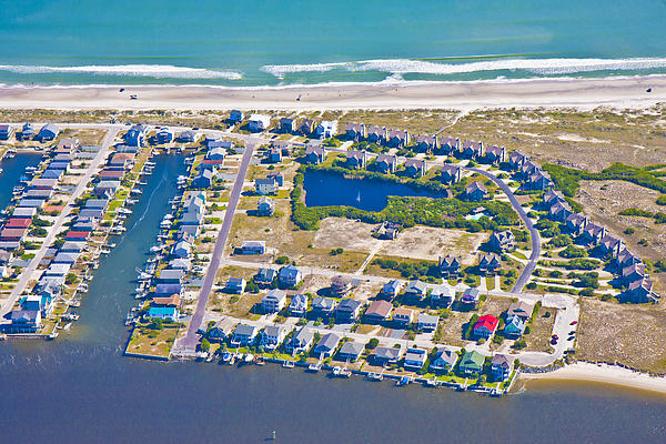 Topsail Island South End II Print by Betsy A  Cutler