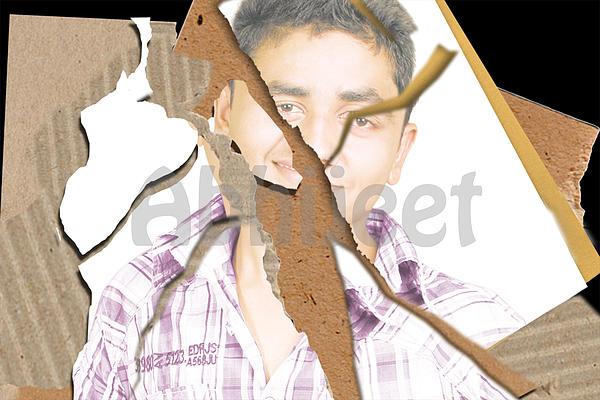 Torn Mix Print by Abhijeet Sarswat
