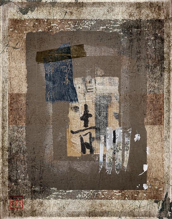 Torn Papers On Wall Number 3 Print by Carol Leigh