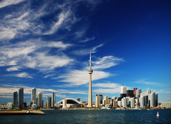 Toronto Skyline Print by Andriy Zolotoiy