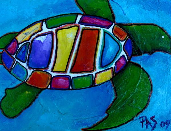 Tortuga Print by Patti Schermerhorn