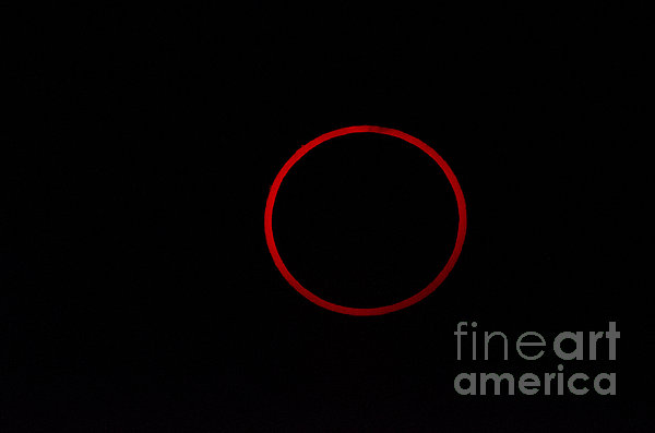 Totality During Annular Solar Eclipse Print by Phillip Jones