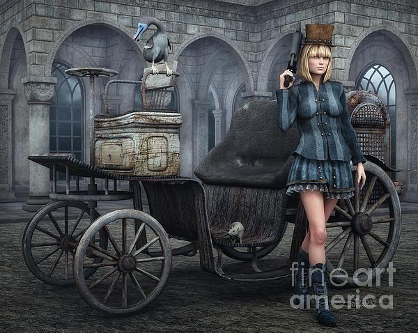 Tough Lady Print by Jutta Maria Pusl
