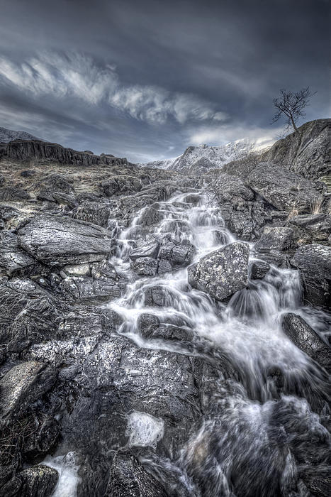 Towards The Cairn Print by Andy Astbury
