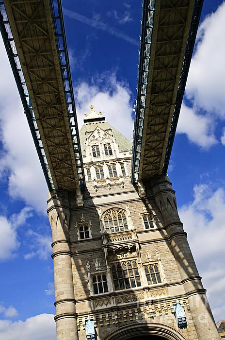 Tower Bridge In London Print by Elena Elisseeva