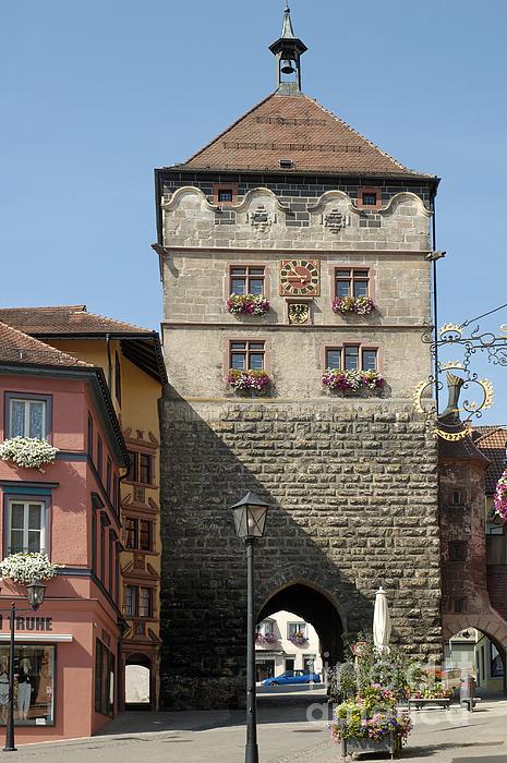 Town Gate Schwarzes Tor In Rottweil Germany Print by Matthias Hauser