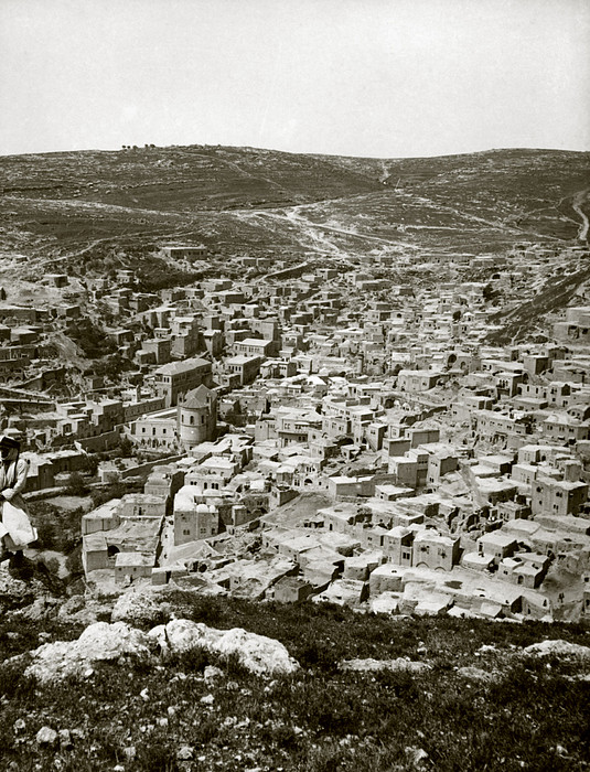 Town Of Es Salt, Ancient Jabesh-gilead Print by Everett