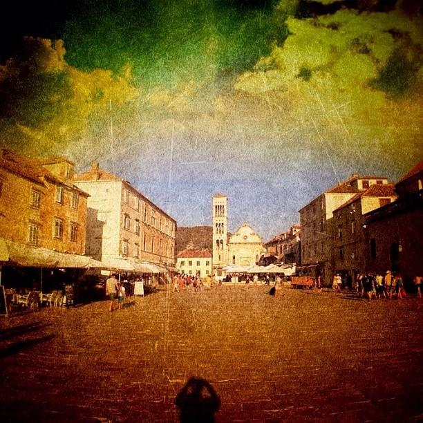 Town Square #edit - #hvar, #croatia Photograph  - Town Square #edit - #hvar, #croatia Fine Art Print