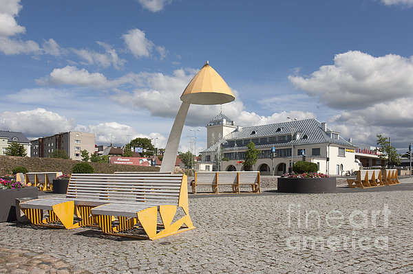 Town Square In Rakvere Print by Jaak Nilson