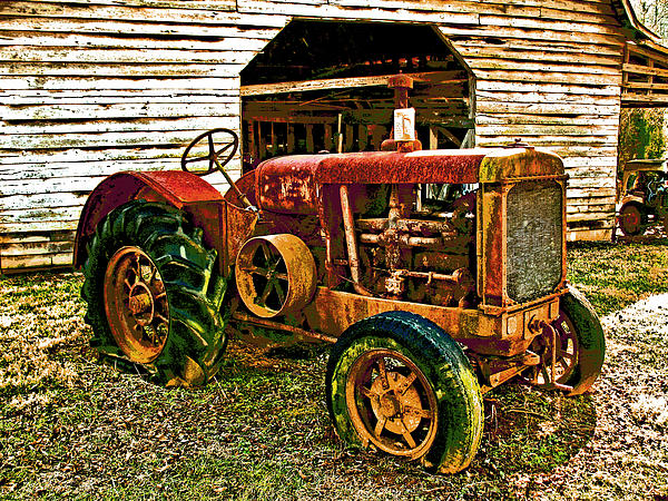 Tractor Print by Julian Bralley
