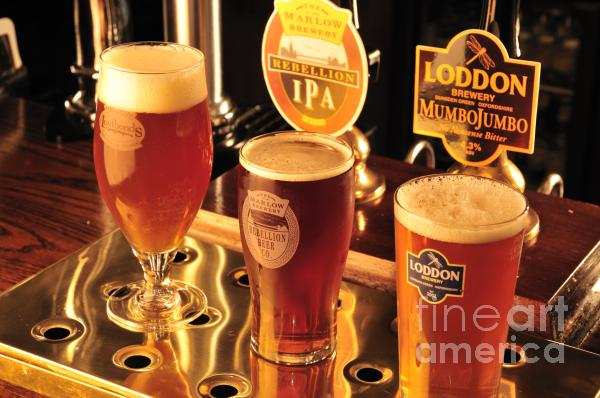 Traditional English Beers Print by Andy Smy