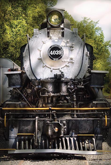 Train - Engine - 4039 American Locomotive Company  Print by Mike Savad
