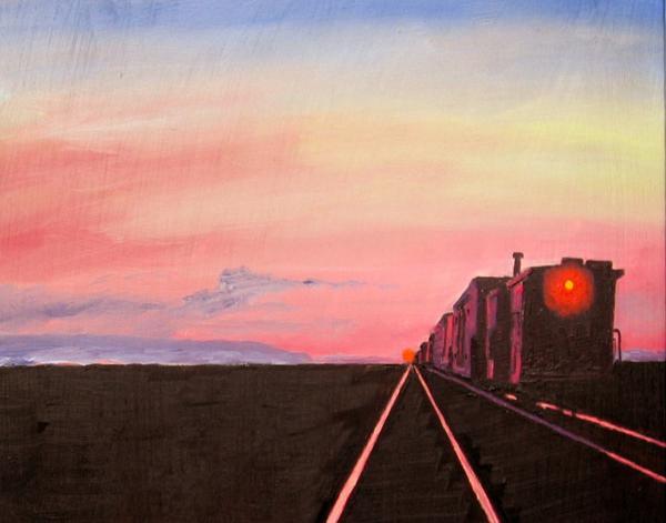 Stan Hamilton - Train at Sundown