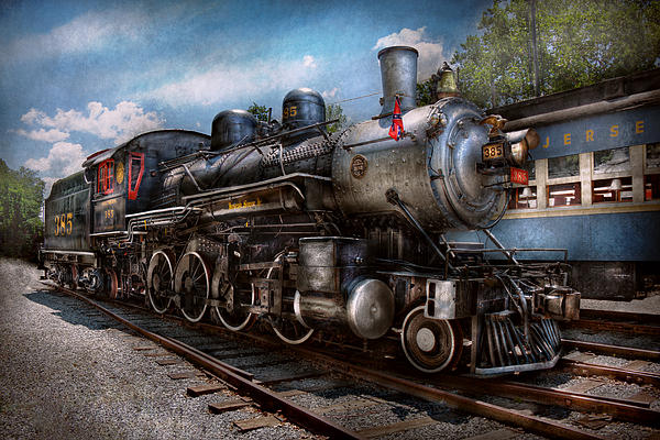 Train - Steam - 385 Fully Restored  Print by Mike Savad