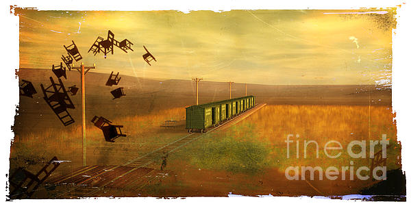 Train Unexplained Print by Rosy Hall
