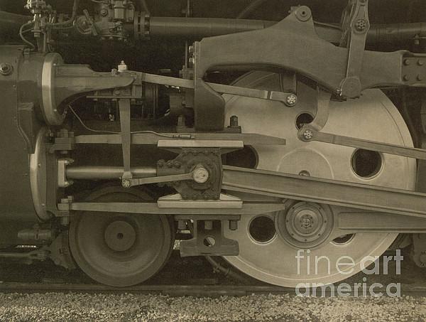 Train Wheels Print by Photo Researchers