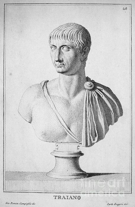 Trajan (c52-117) Print by Granger