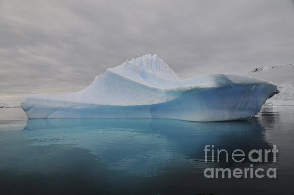 Translucent Blue Iceberg Reflection Print by Mathieu Meur