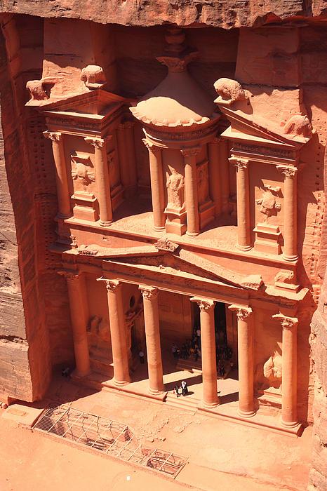 Treasury Of Petra Print by Paul Cowan