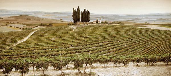Tree Circle - Tuscany  Print by Trevor Neal