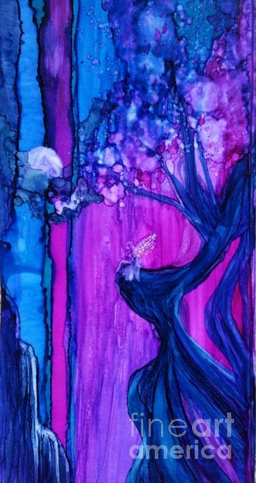 Tree Fairy Print by Joyce Auteri