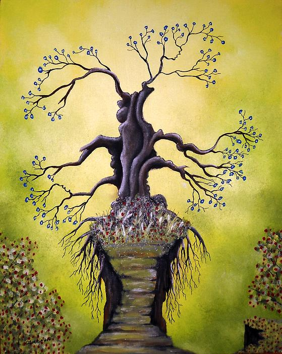 Tree Of Agony Print by Edwin Alverio