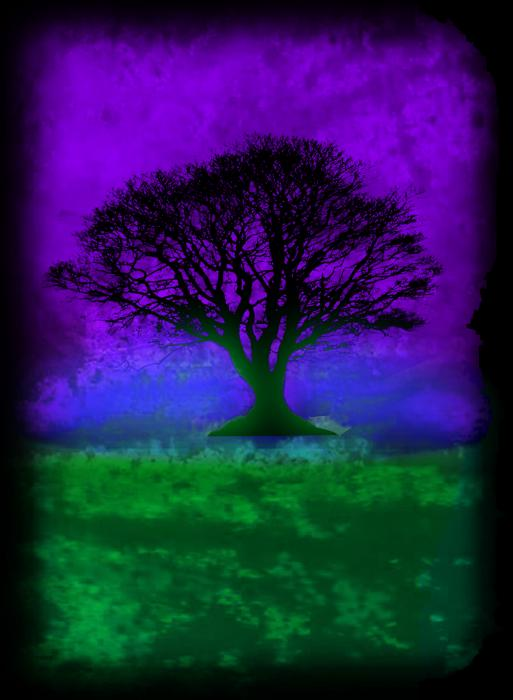 Tree Of Life - Purple Sky Print by Robert R Splashy Art