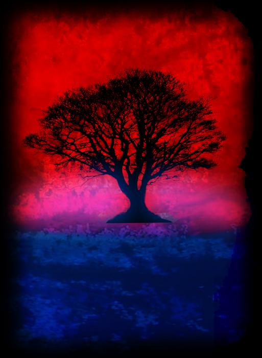 Tree Of Life - Red Sky Painting  - Tree Of Life - Red Sky Fine Art Print