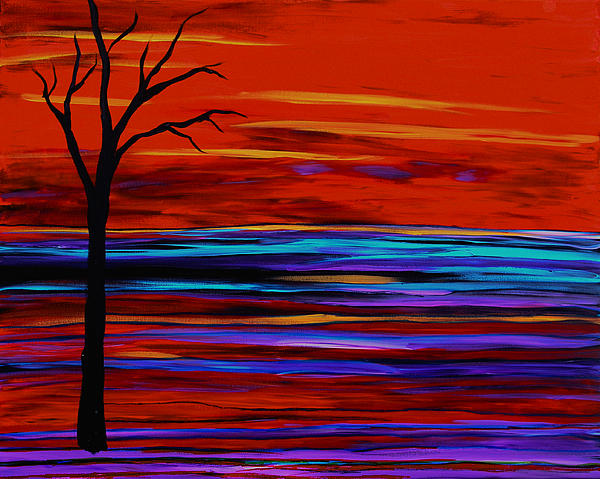 Family Treasures PRIVATE GALLERY - Tree On The Red Horizon