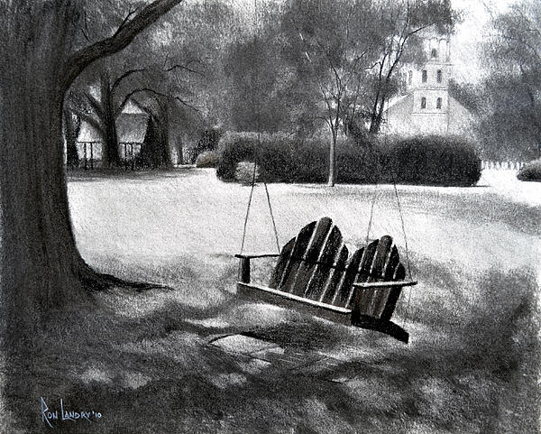 Tree Swing In Grand Coteau Print by Ron Landry