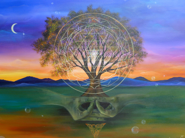 Tree Yantra Print by Sundara Fawn